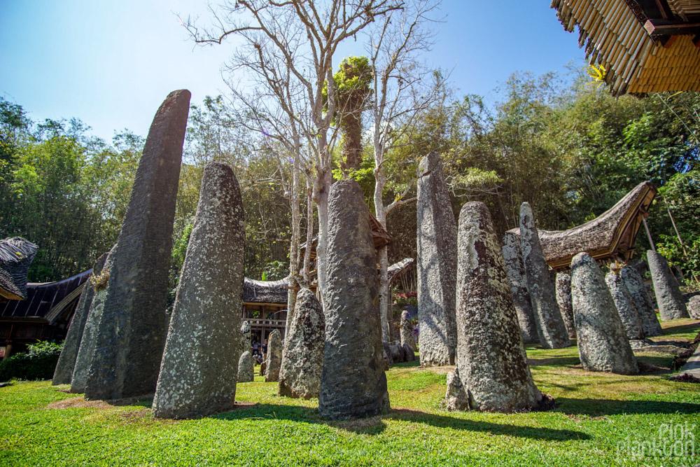 Bori Parinding grave site pillars in Toraja, Sulawesi