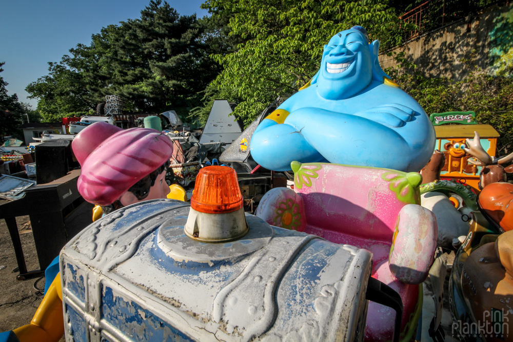 abandoned genie at Yongma Land in Seoul