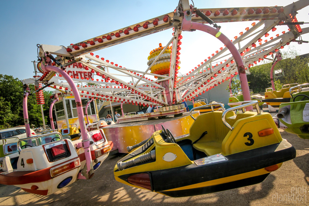 abandoned ride at Yongma Land in Seoul