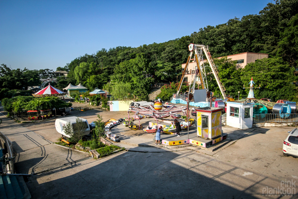 abandoned rides at Yongma Land in Seoul