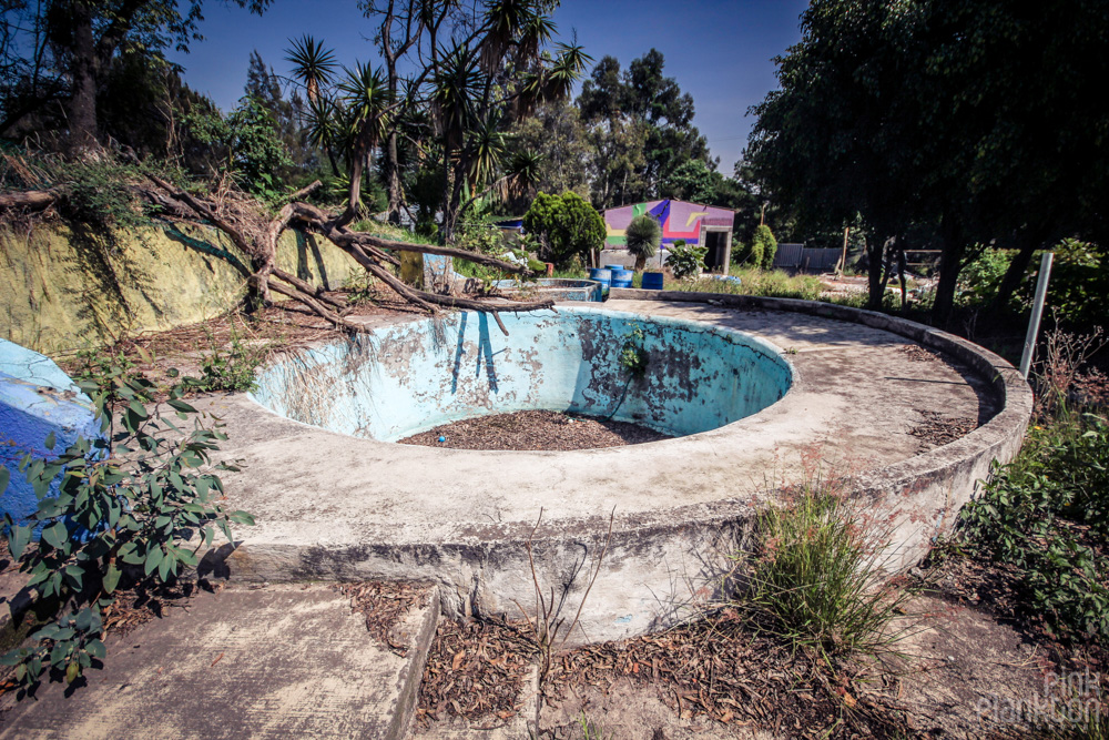 abandoned pool at Atlantis Water Park in Mexico City
