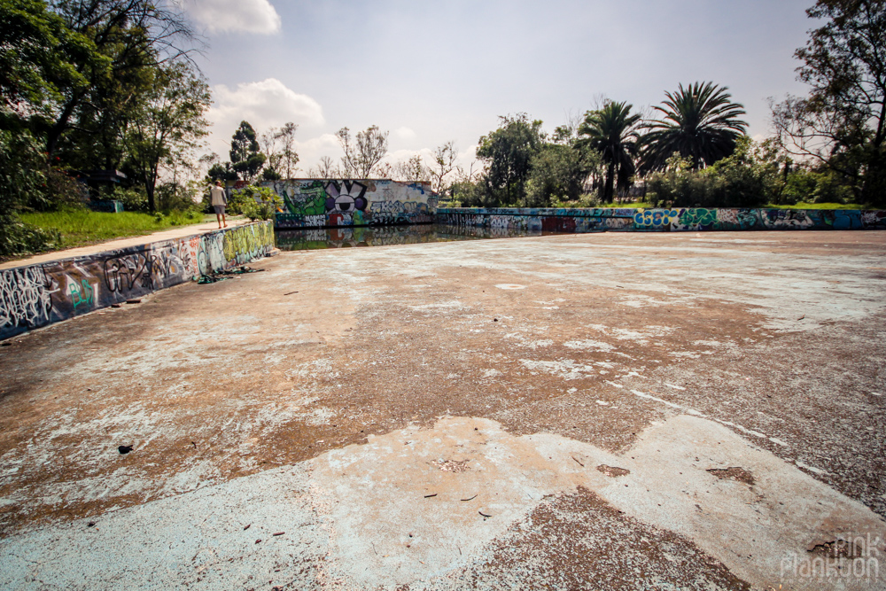 abandoned wave pool at Atlantis Water Park in Mexico City