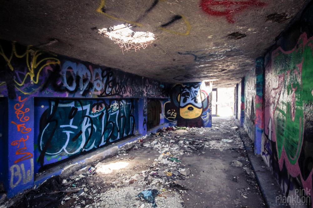 abandoned graffiti at Atlantis Water Park in Mexico City