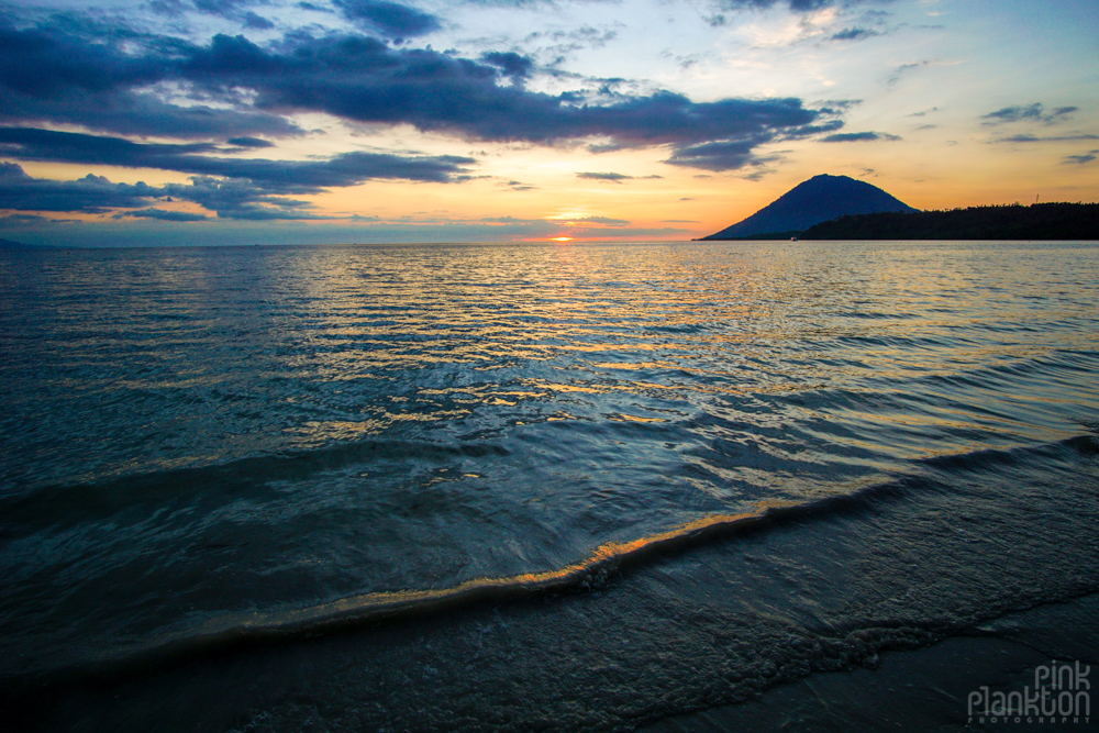 sunset from Bunaken Island, Sulawesii