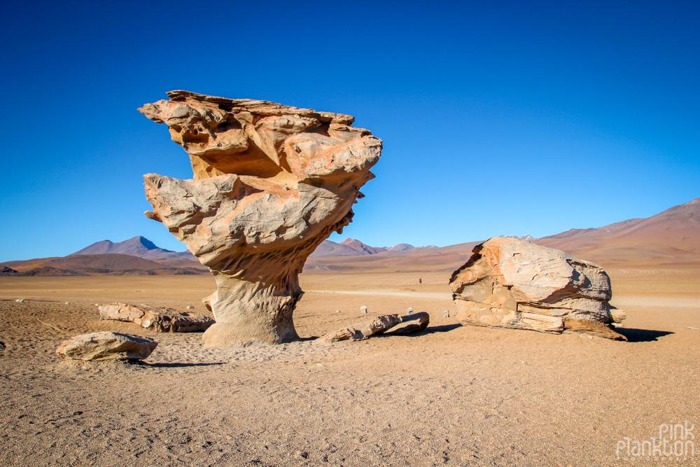 Arbol de Piedra, or Stone Tree rock formation in Bolivia's desert
