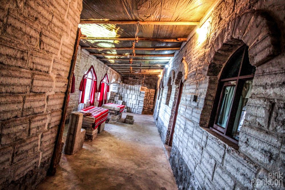 inside salt hotel in Bolivia