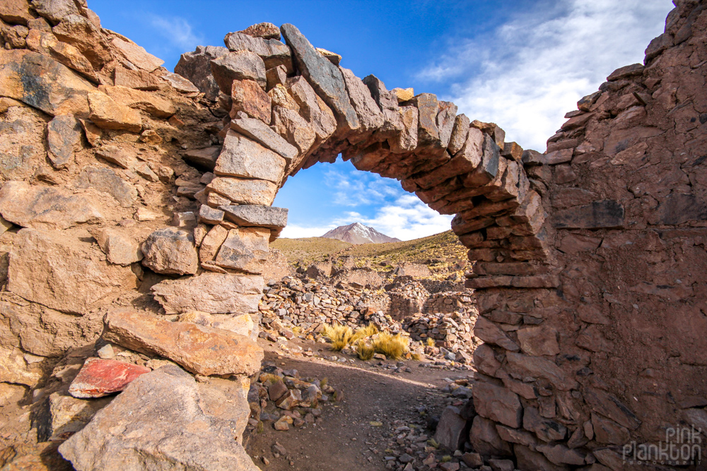 ruins of an abandoned ghost town Pueblo Fantasma in Bolivia