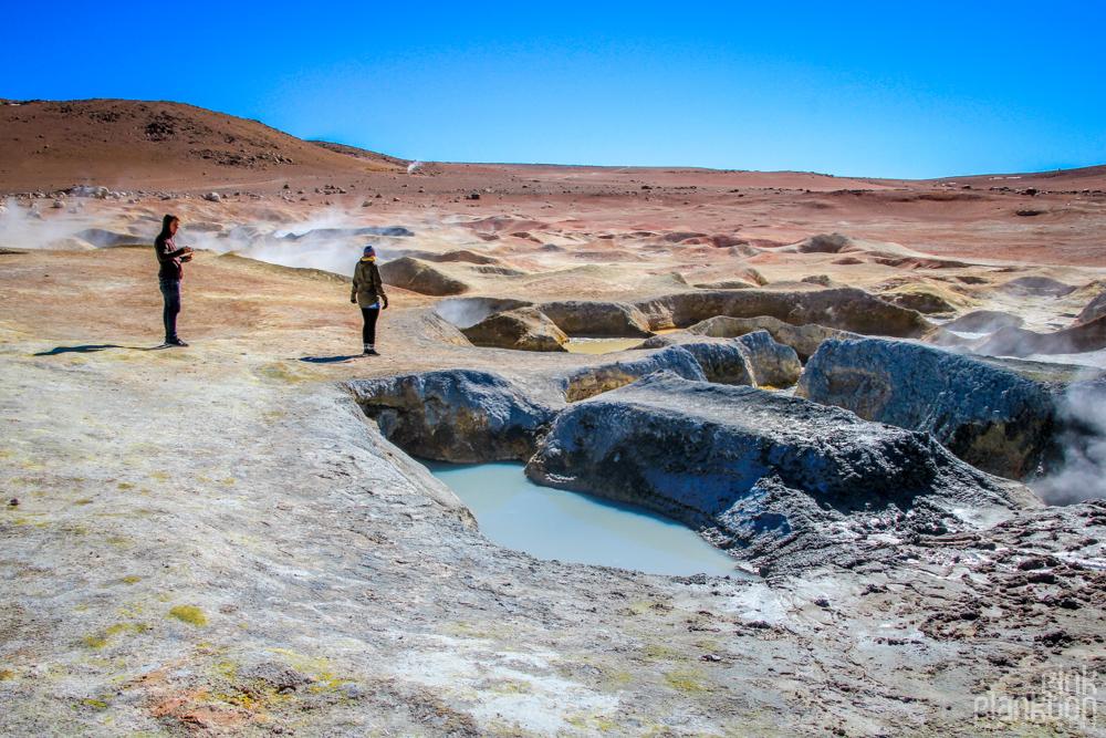 Bolivia's Sol de Mañana geothermal volcanic area