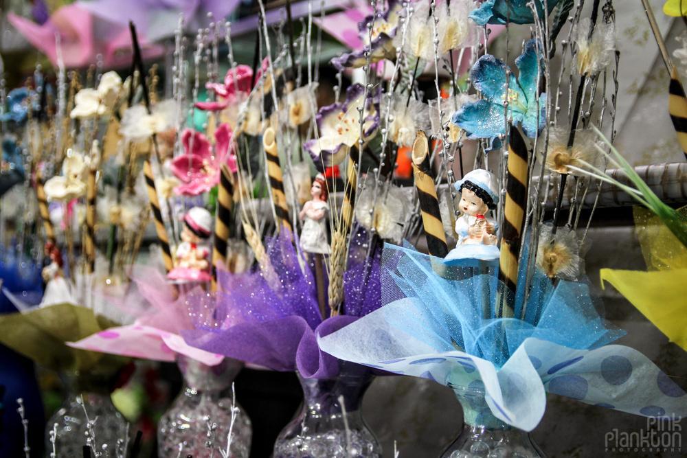 party decorations in Mexico City's Mercado de Flores Merced