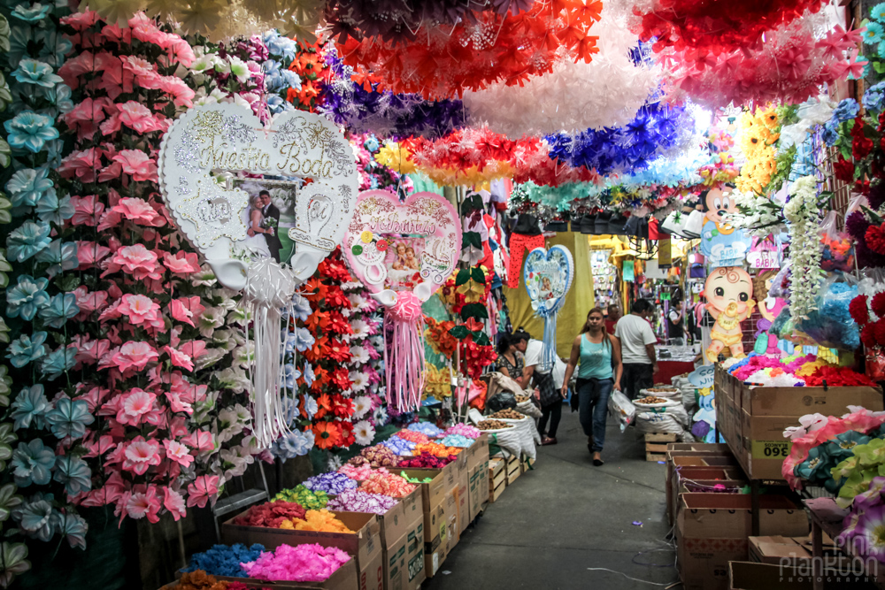 party decorations in Mexico City's Mercado de Flores Merced