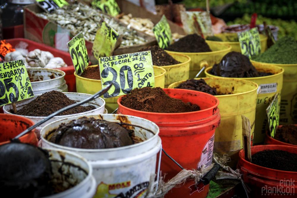 mole in Mexico City's Mercado de la Merced