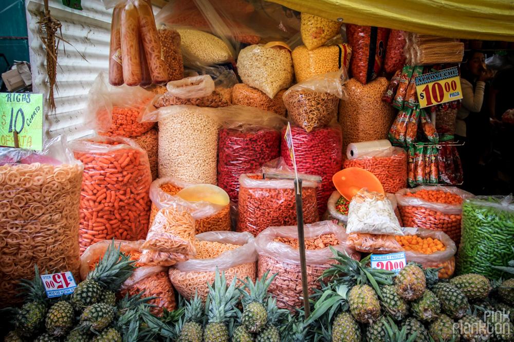 chips in Mexico City's Mercado de la Merced