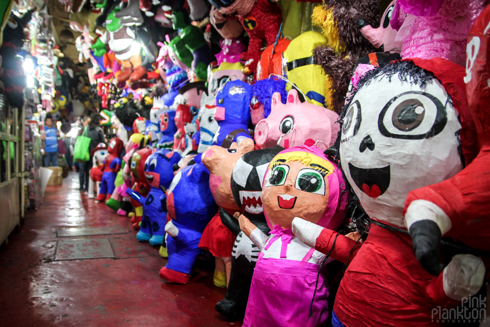 pinatas in Mexico City's Mercado de la Merced