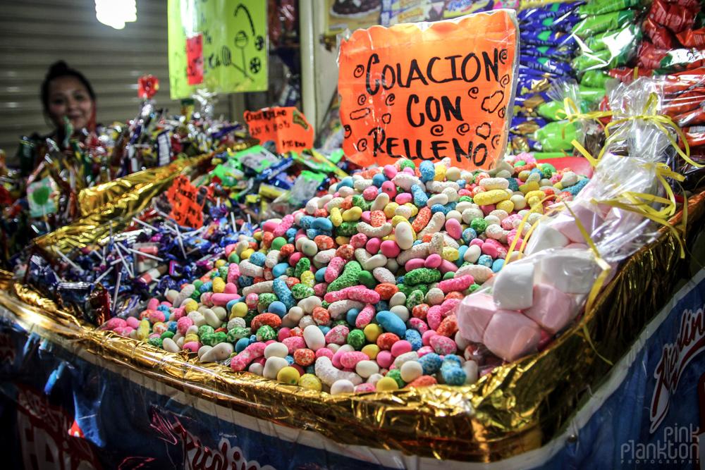 candy in Mexico City's Mercado de la Merced