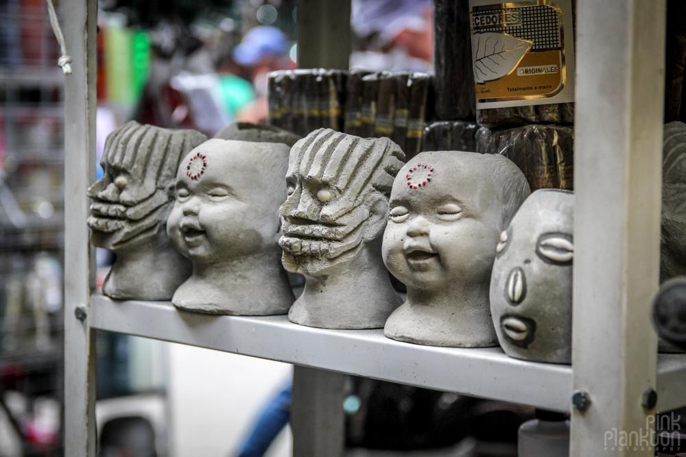 baby face witch items at Mercado Sonara in Mexico City