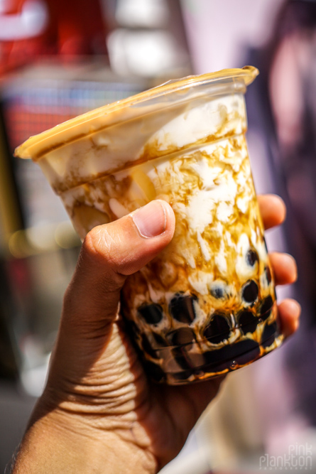 brown sugar bubble tea in Taipei, Taiwan