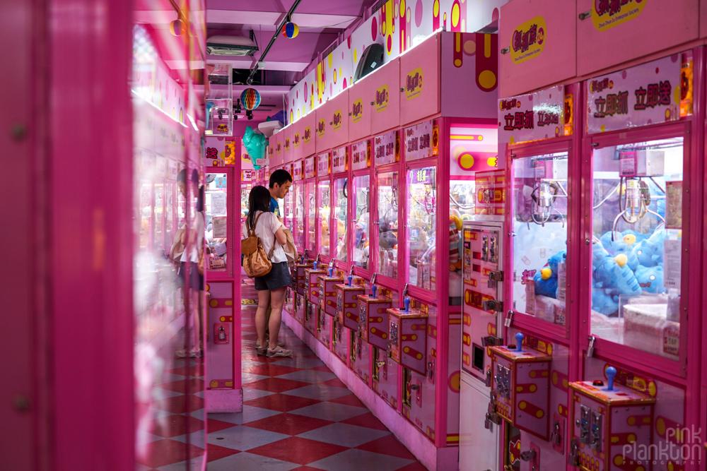 claw machine games in Taipei, Taiwan