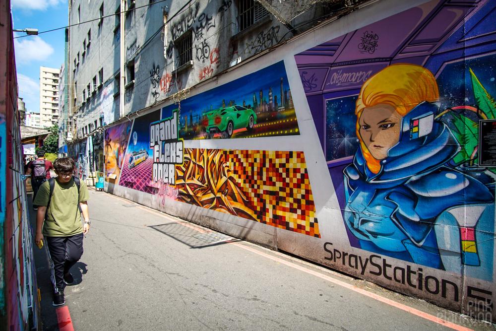 street art mural in Ximending, Taipei, Taiwan
