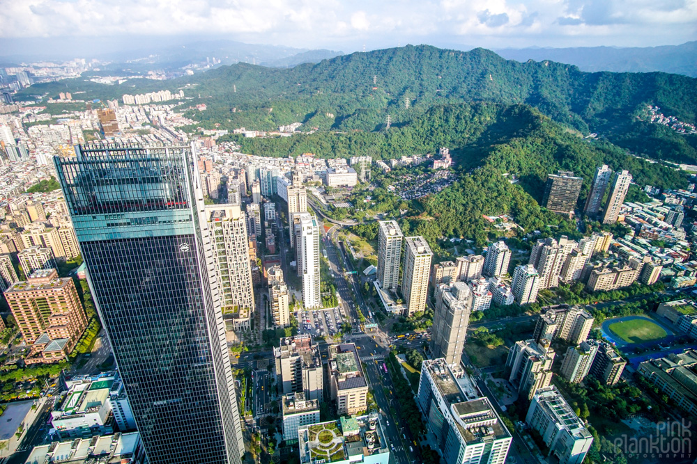 view from Taipei 101 tower in Taiwan
