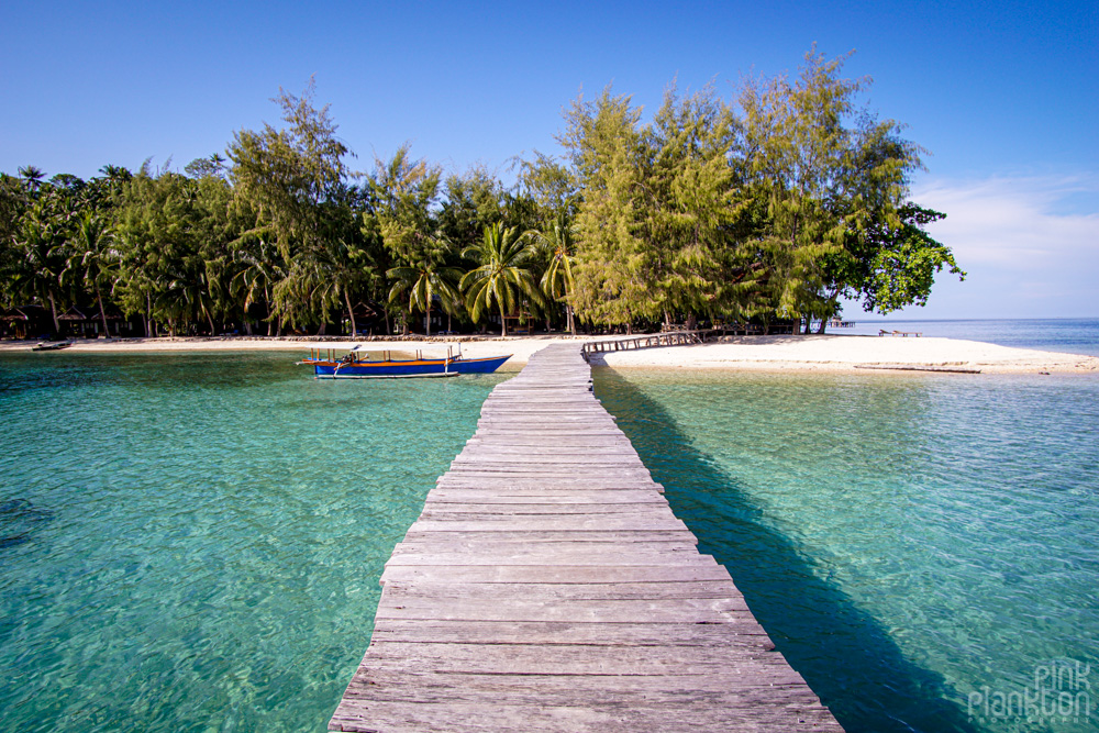 jetty at Fadhila Cottages in the Togean Islands