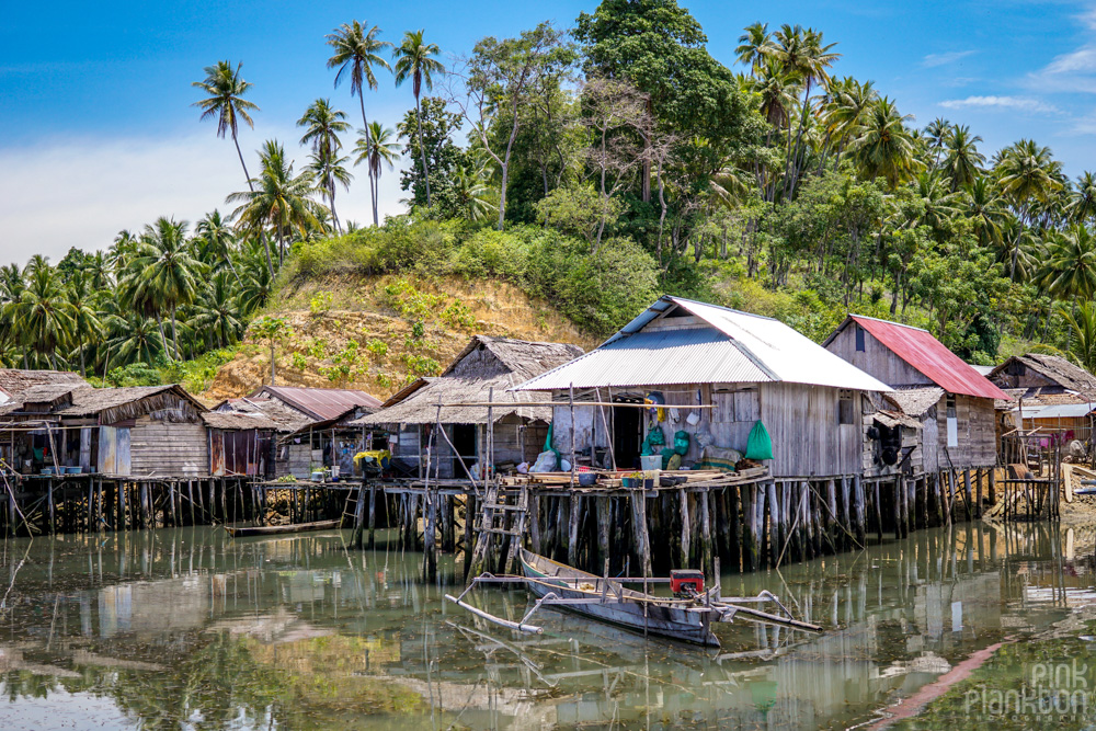 floating houses in Katupat village, Togean Islands