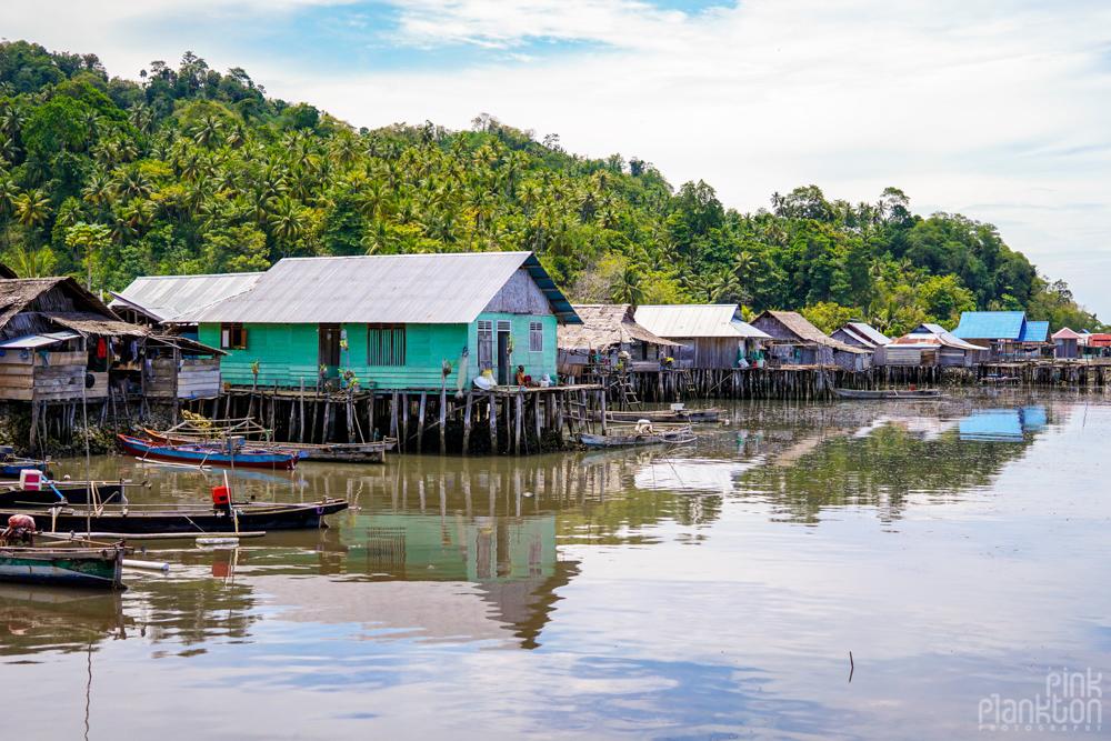 floating houses in Katupat village, Togean Islands