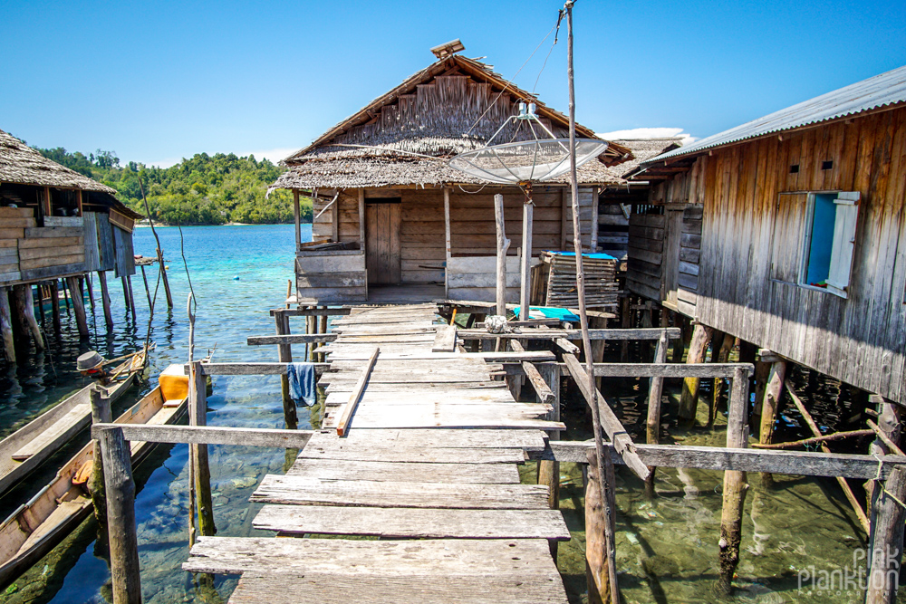floating house on Pulau Papan in the Togean Islands