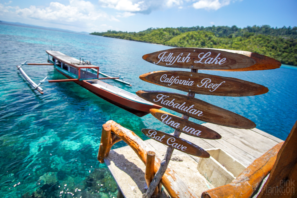 sign in Pulau Papan in the Togean Islands