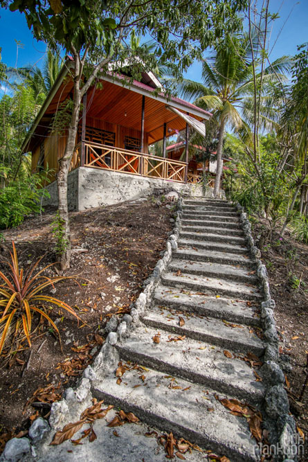 bungalow on the hill of Sera Beach in the Togean Islands