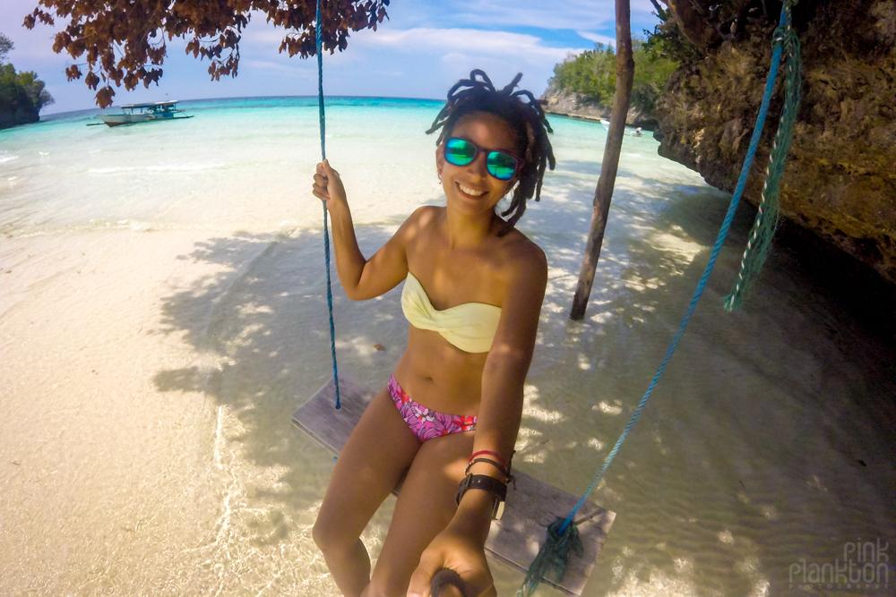Sera Beach swing in the Togean Islands