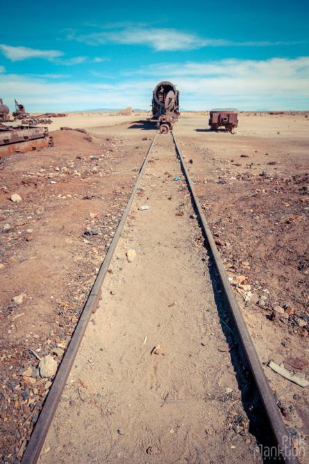 Train cemetery in Uyuni, Bolivia