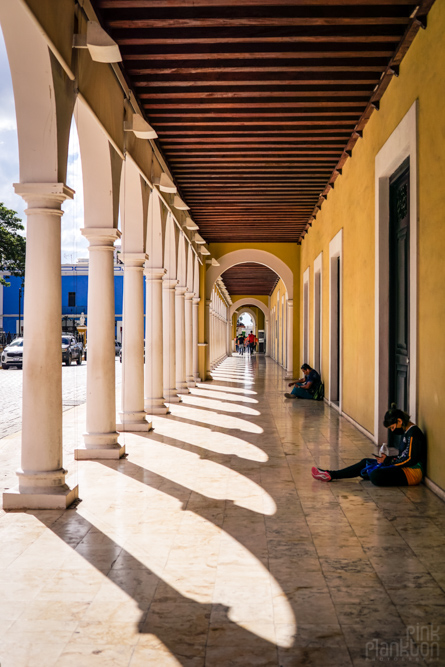 Campeche arches in the central square
