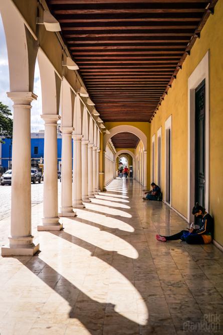 Campeche arches in the central square