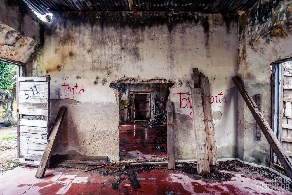 abandoned building in Minsebalam ghost town