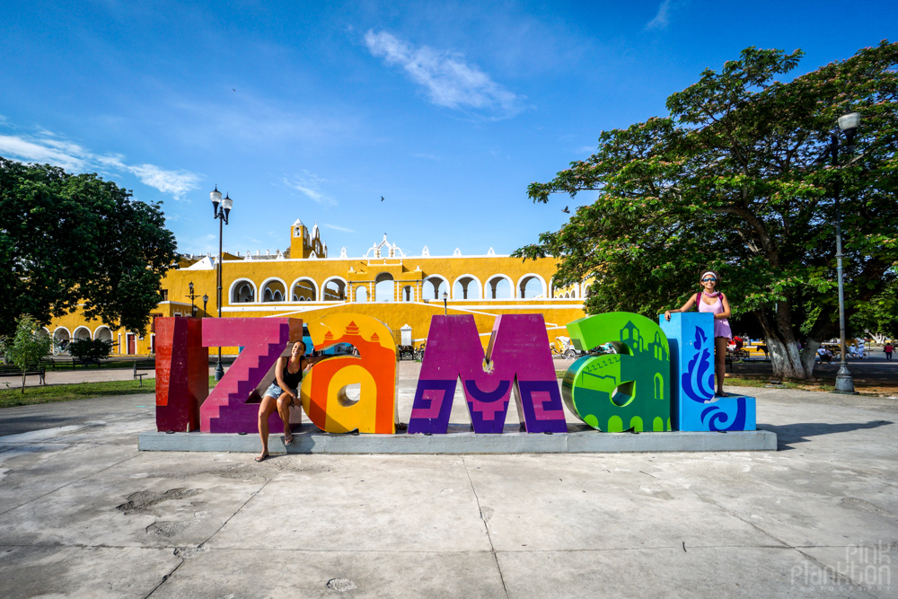 Izamal sign in Mexico