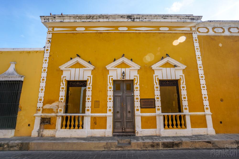 yellow buildings and doorways in Izamal, Mexico