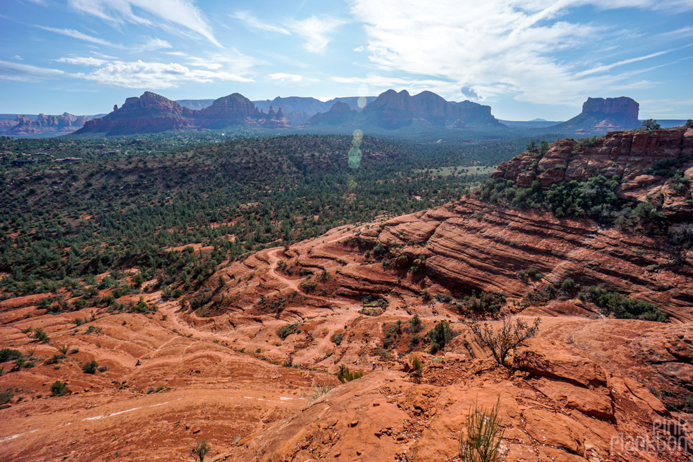 view from Cathedral Rock in Sedona